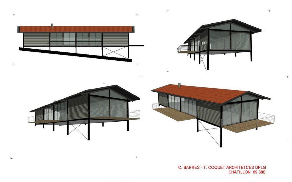 maison avec vue barres coquet architectes. Black Bedroom Furniture Sets. Home Design Ideas
